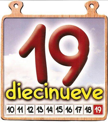 19 Los números del 11 al 20