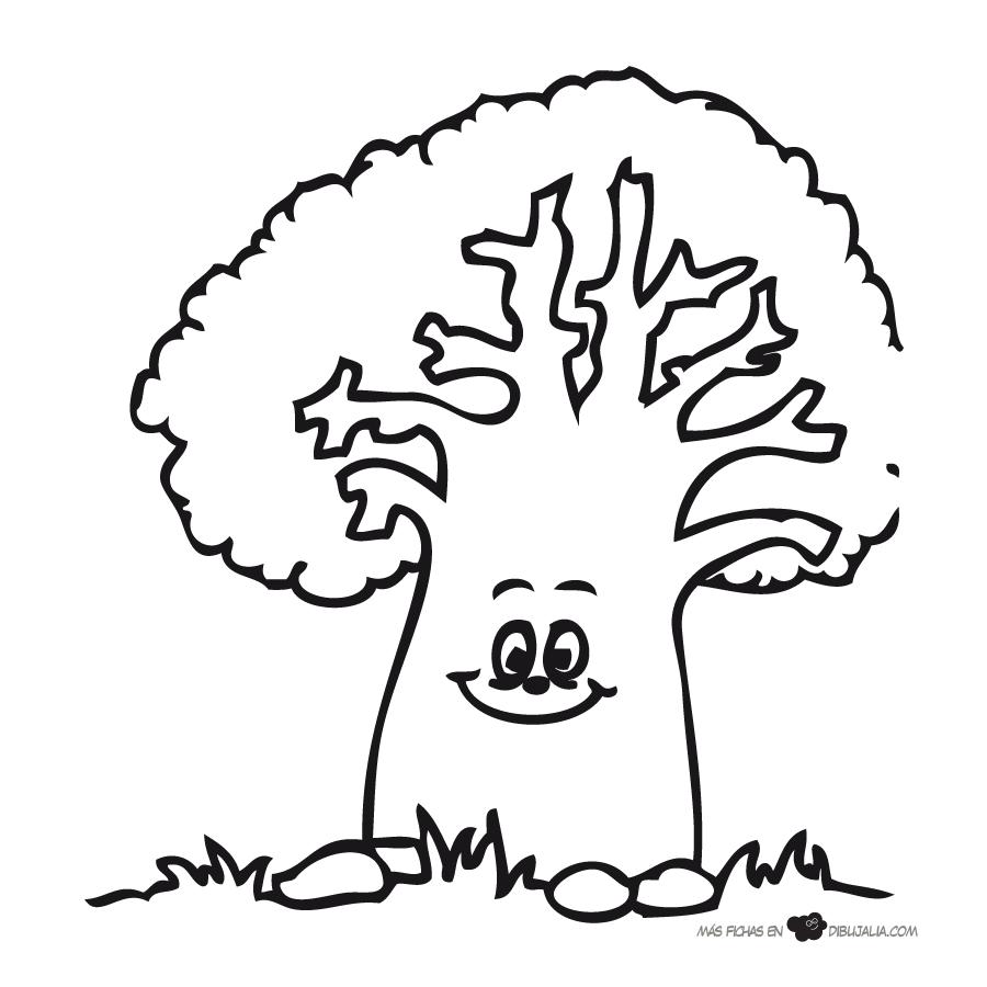arbol-centenario Dibujos de árboles para colorear