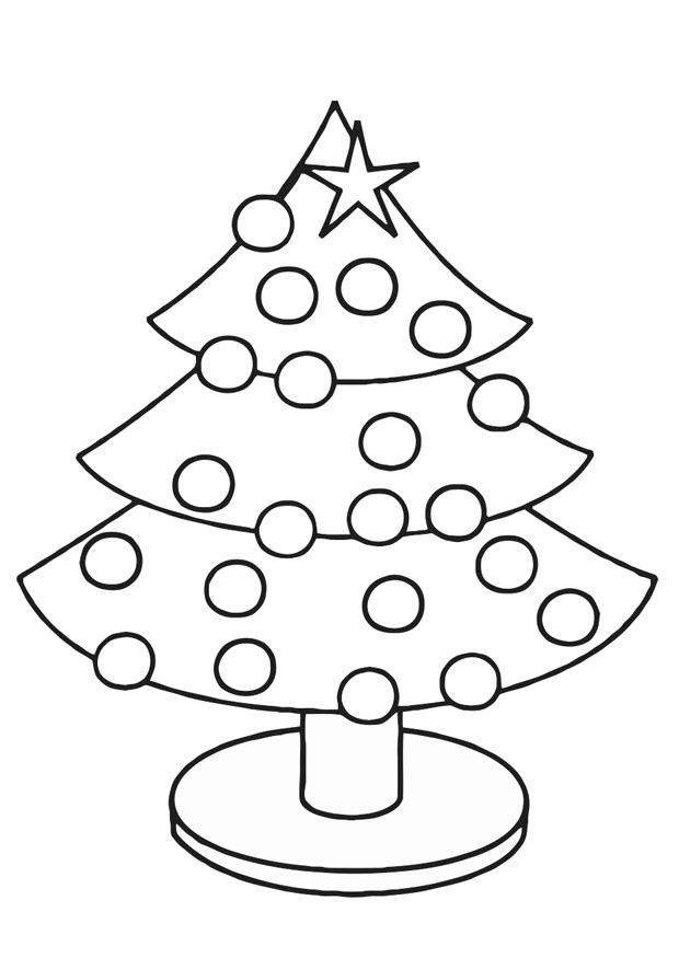 arbol-de-navidad- Dibujos de árboles para colorear