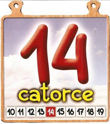 catorce 14 Los números del 11 al 20