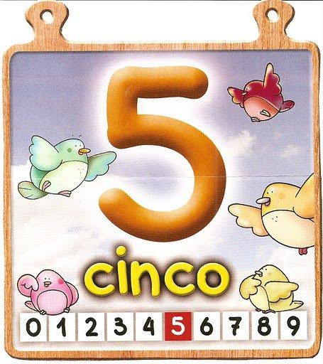 cinco 5 Los números del 0 al 10