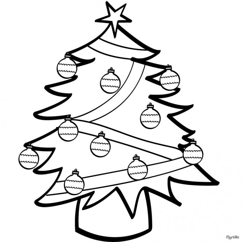 dibujo-arbol-de-navidad- Dibujos de árboles para colorear