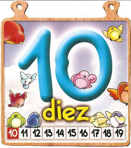 diez 10 Los números del 0 al 10