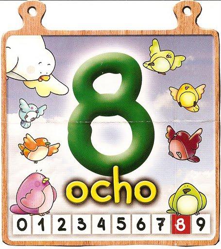 ocho 8 Los números del 0 al 10