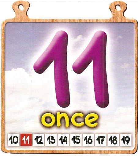 once 11 Los números del 11 al 20