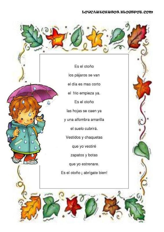 Poemas De Otono Para Ninos