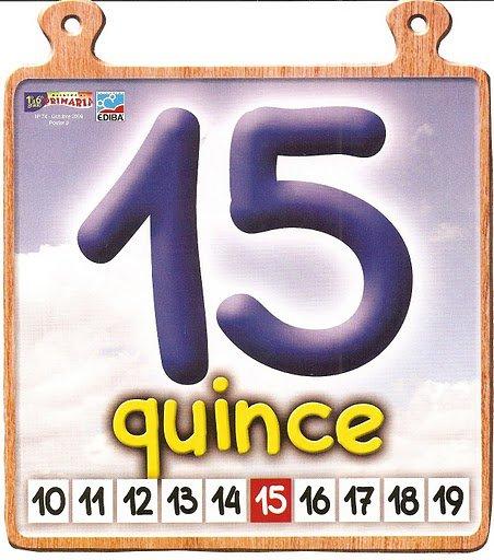 quince 15 Los números del 11 al 20