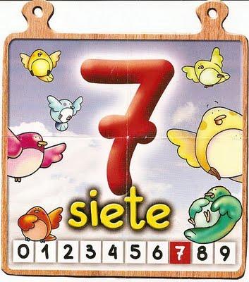 siete 7 Los números del 0 al 10