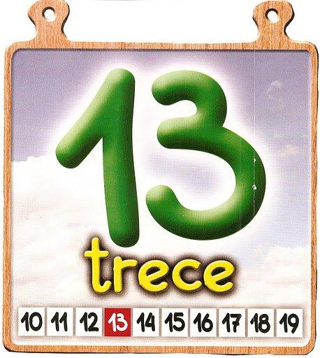 trece 13 Los números del 11 al 20