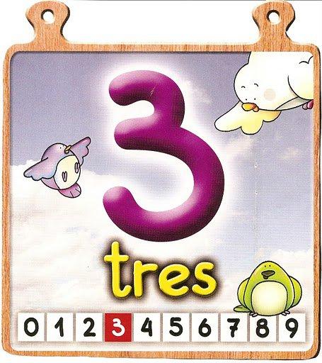 tres 3 Los números del 0 al 10