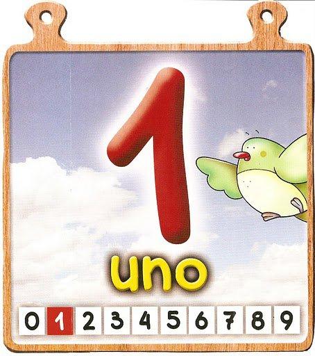 uno 1 Los números del 0 al 10