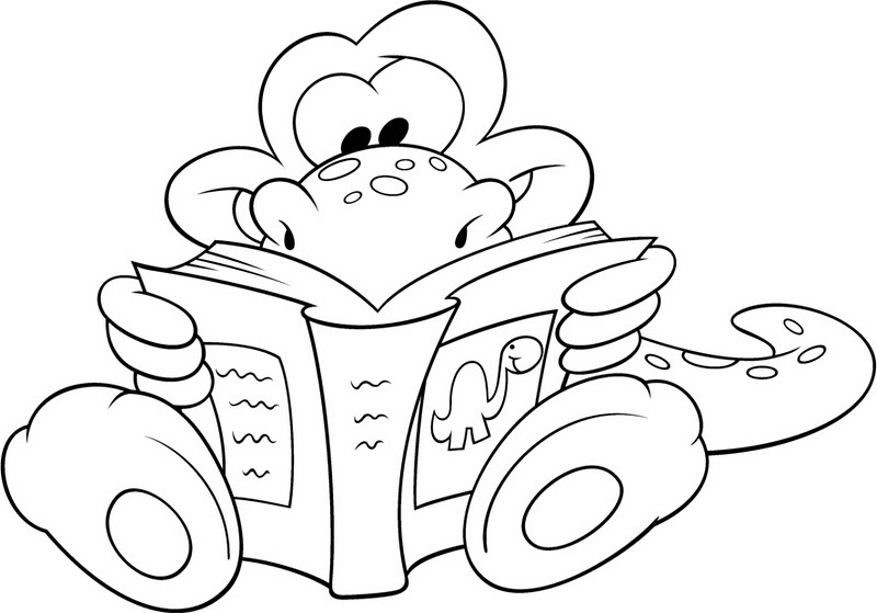 Día del libro, dibujos para colorear del 23 de abr...