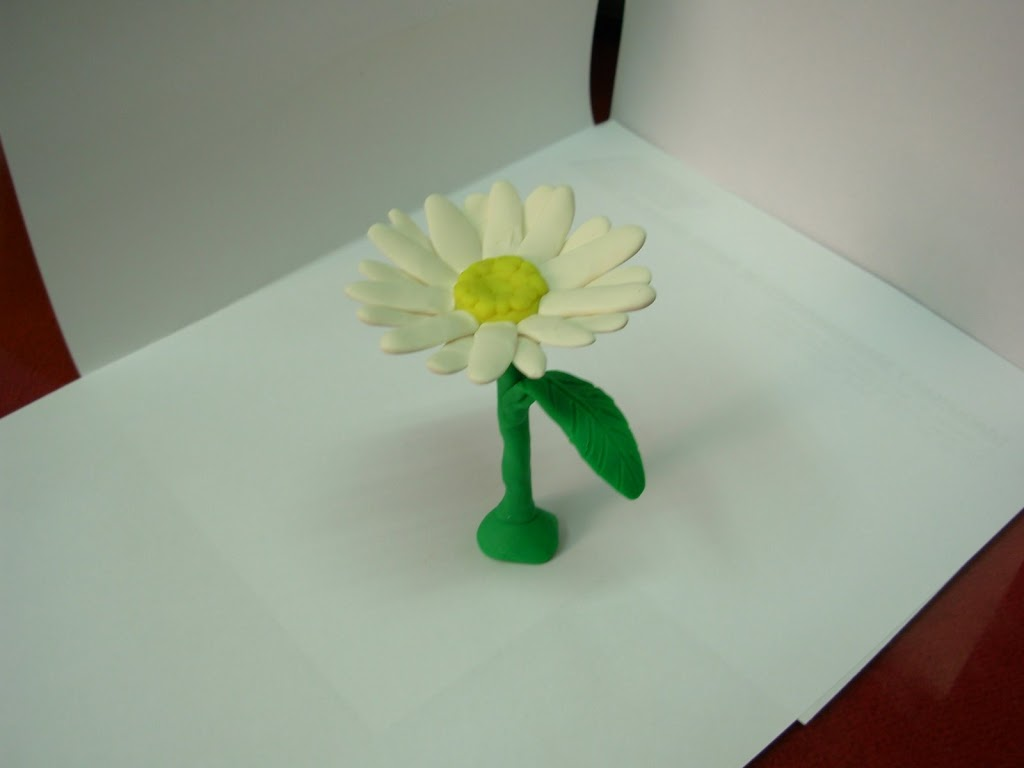Manualidades con plastilina fllor