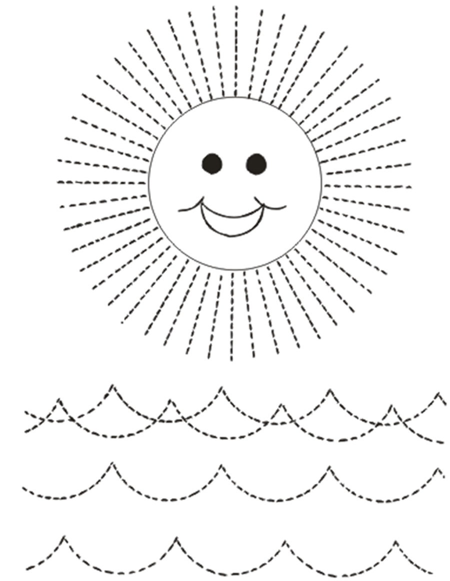 Actividades de punzar o puntear sol olas