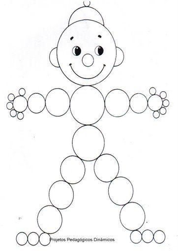 Dibujos y plantillas para gomets muñeco