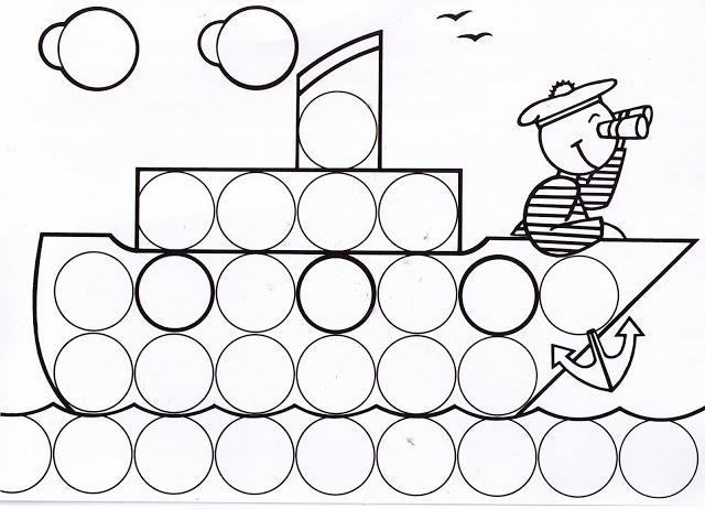 Dibujos y plantillas para gomets barco