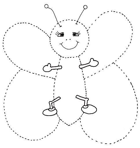 Actividades de punzar o puntear mariposa