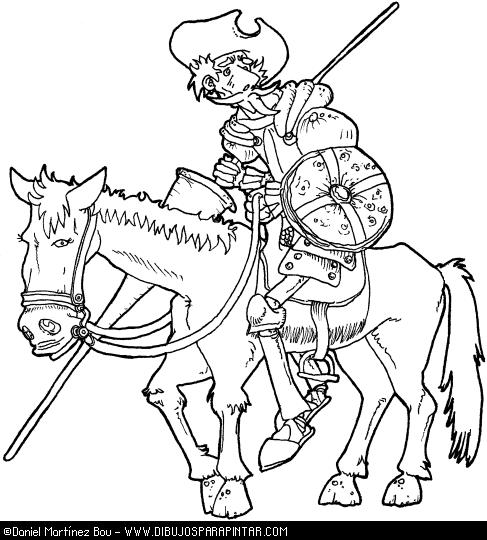 don quijote Dibujos para colorear de Don Quijote para niños