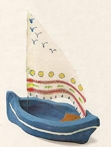 Manualidades con plastilina barco