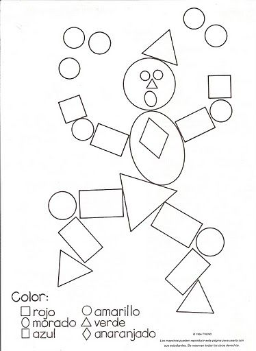 Dibujos y plantillas para gomets payaso