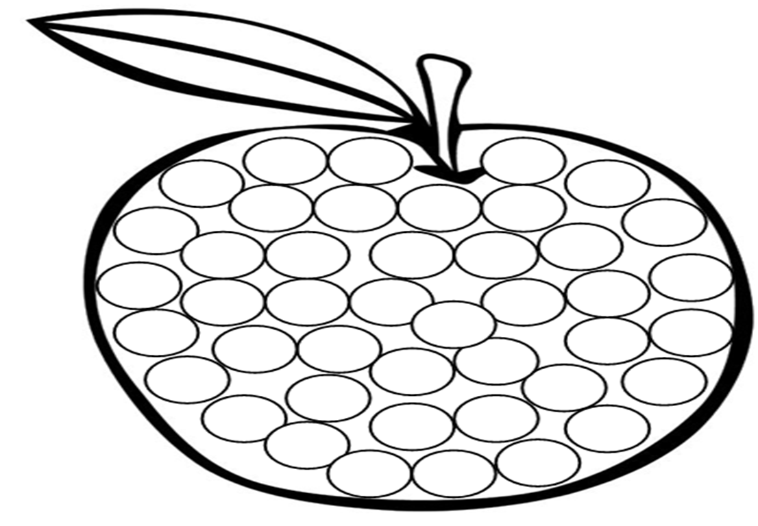 Dibujos y plantillas para gomets manzana