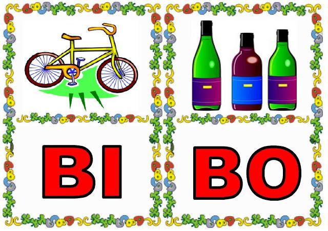 Cartas de sílabas BI-BO
