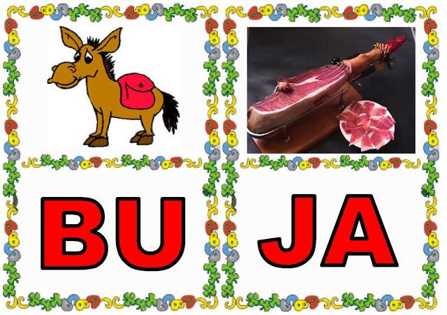 Cartas de sílabas BU-JA