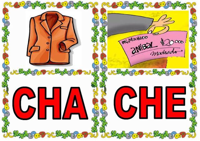 Cartas de sílabas CHA-CHE