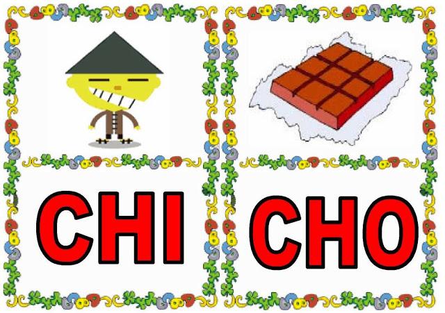 Cartas de sílabas CHI-CHO