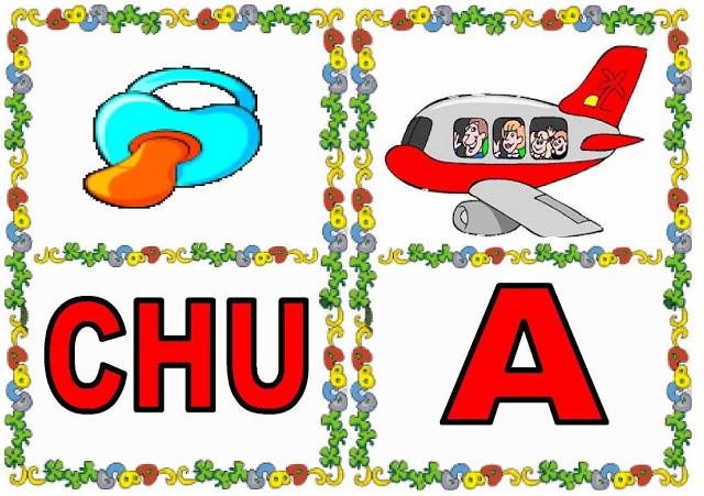 Cartas de sílabas CHU-A