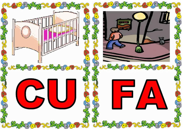 Cartas de sílabas CU-FA