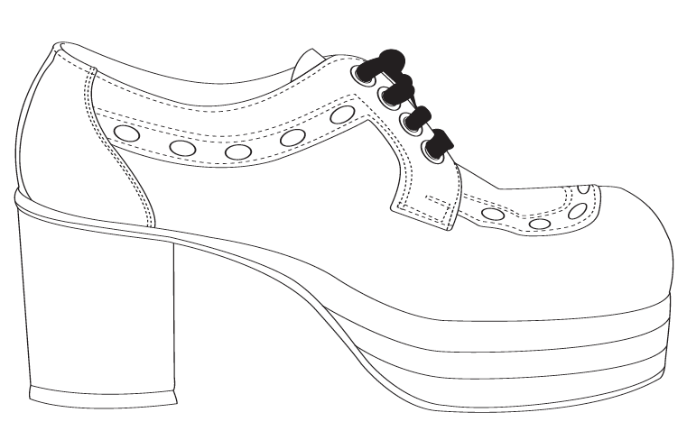 zapatos para colorear de mujer