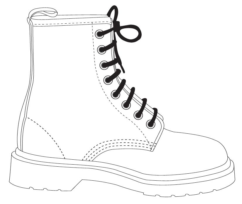 botas para colorear