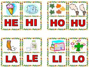 Aprender las sílabas jugando
