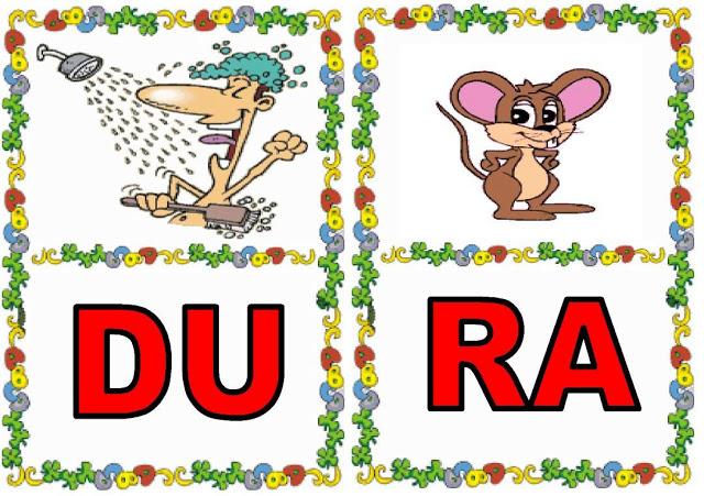 Cartas de sílabas DU-RA