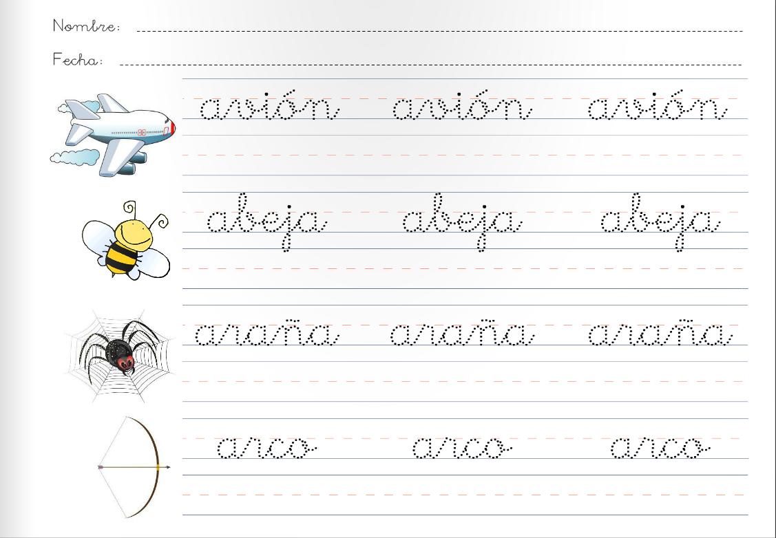 Escribir en letra cursiva