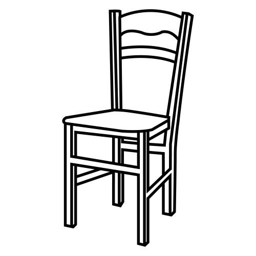 dibujos de una silla antigua