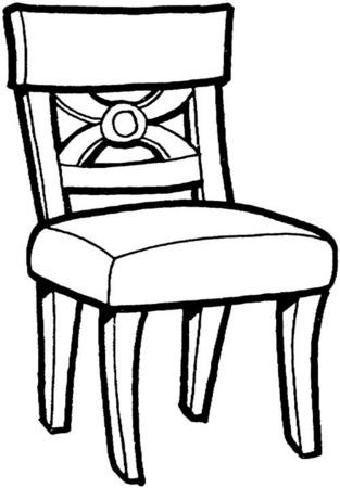dibujos de sillas comodas para colorear