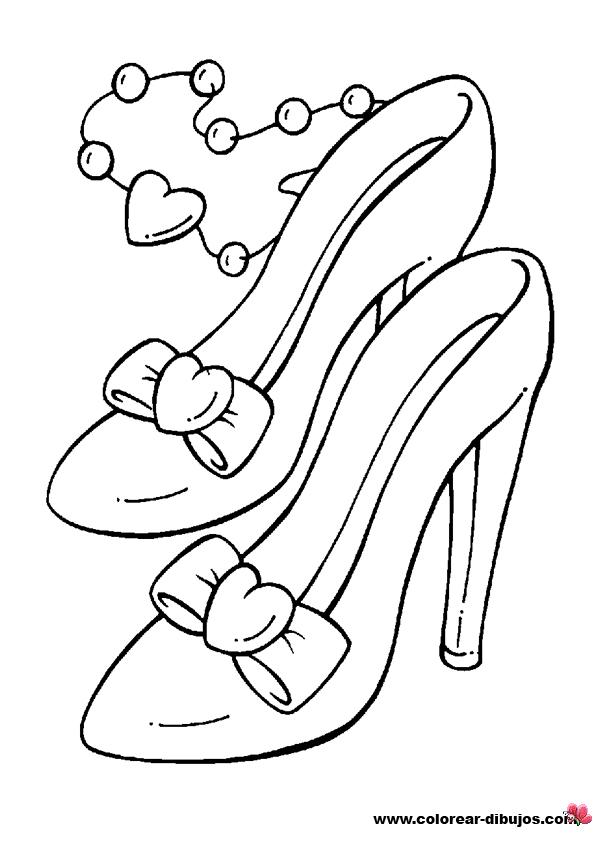 zapatos con tacones de fiesta para colorear