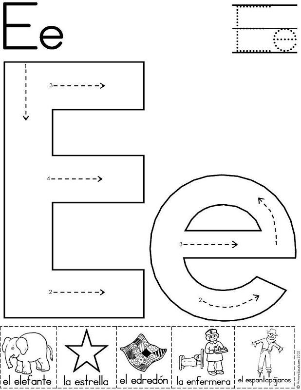 Ejercicios de vocales para niños