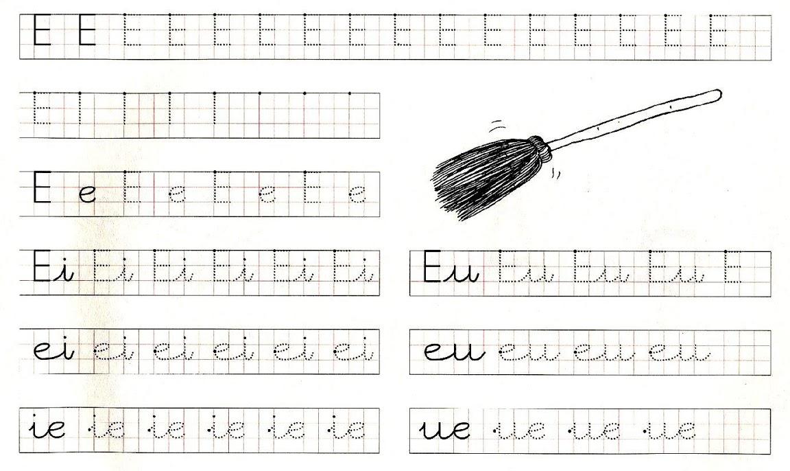 la e Ejercicios con vocales de motricidad