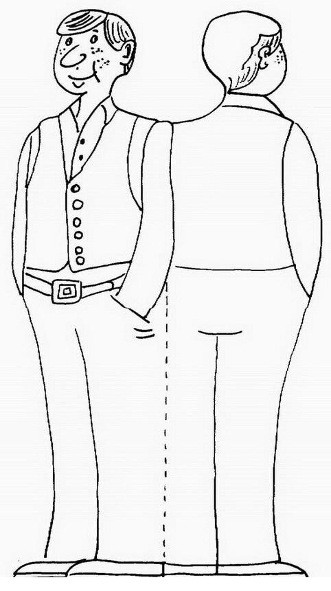Silueta del cuerpo de mujer para colorear - Imagui