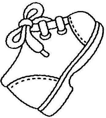 zapatos botas para colorear